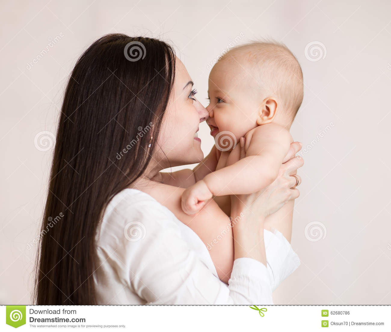 Mother Holding Baby Son With Love Stock Photo Image Of Family
