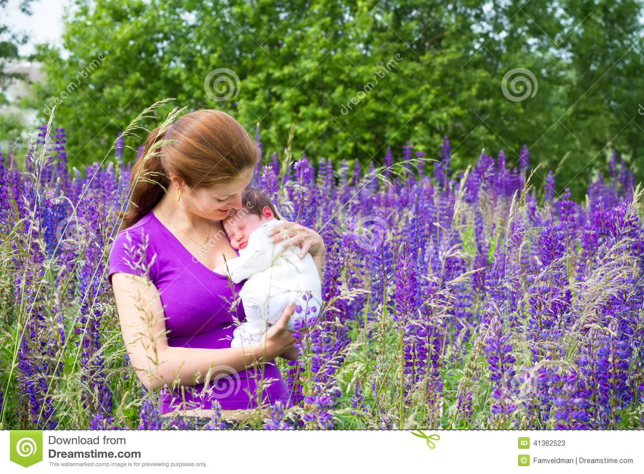 Mother Holding Baby Clipart