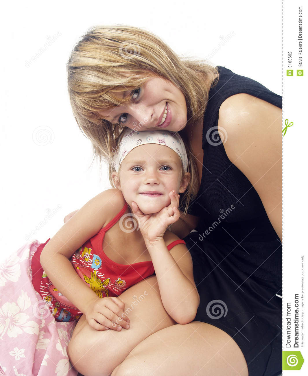 Mother Love His Douther Stock Photography
