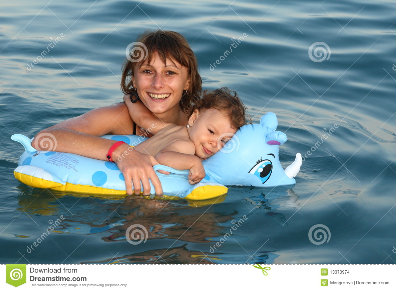 Mother Mom With Baby Swimming Stock Images Image 13373974