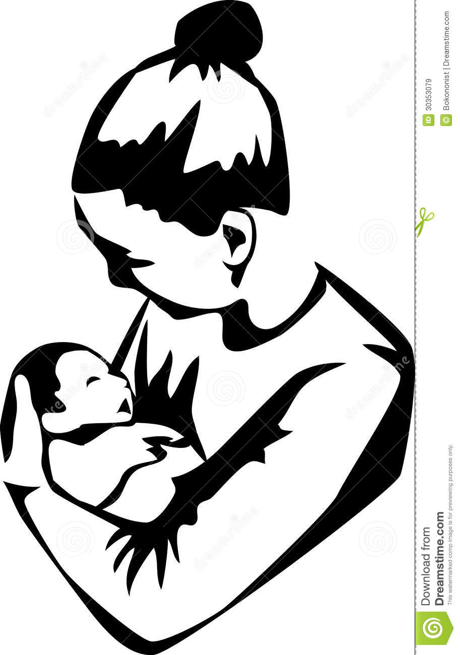 Mother Stock Vector Illustration Of Person Parent Infant 30353079