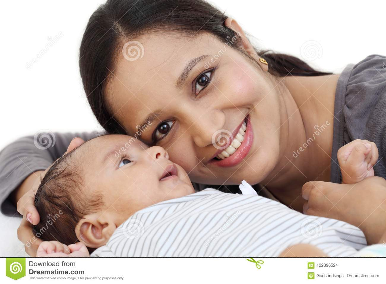 Mother and newborn baby love