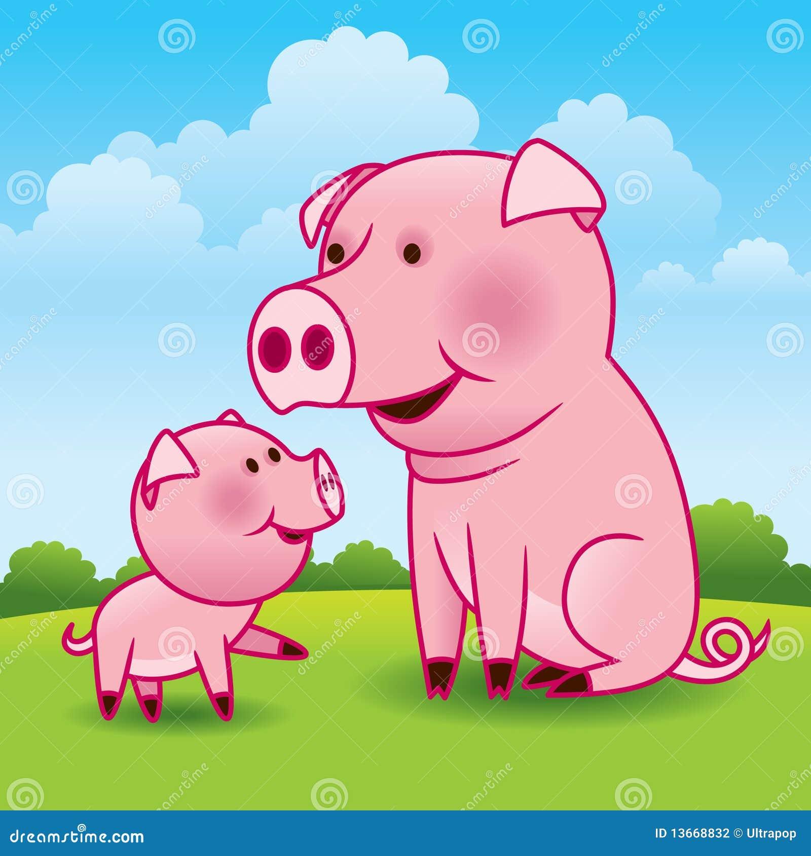 cute clipart pig