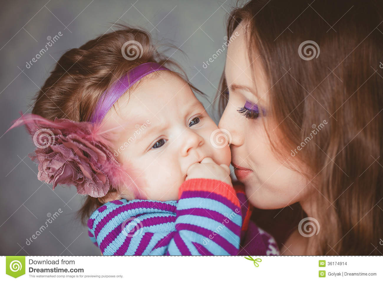 mother playing with cute baby girl indoor stock photo - image of