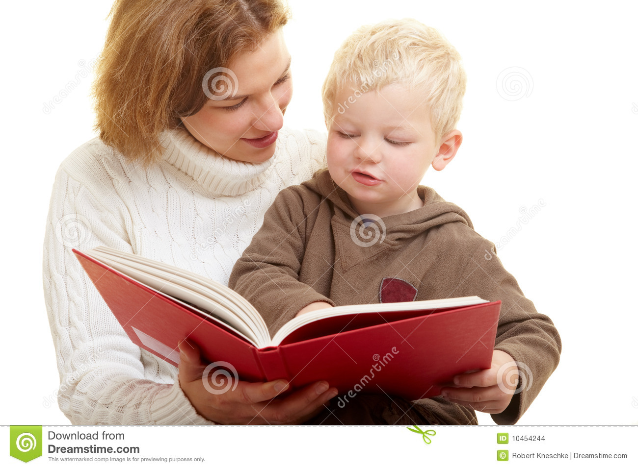 Mother reading aloud