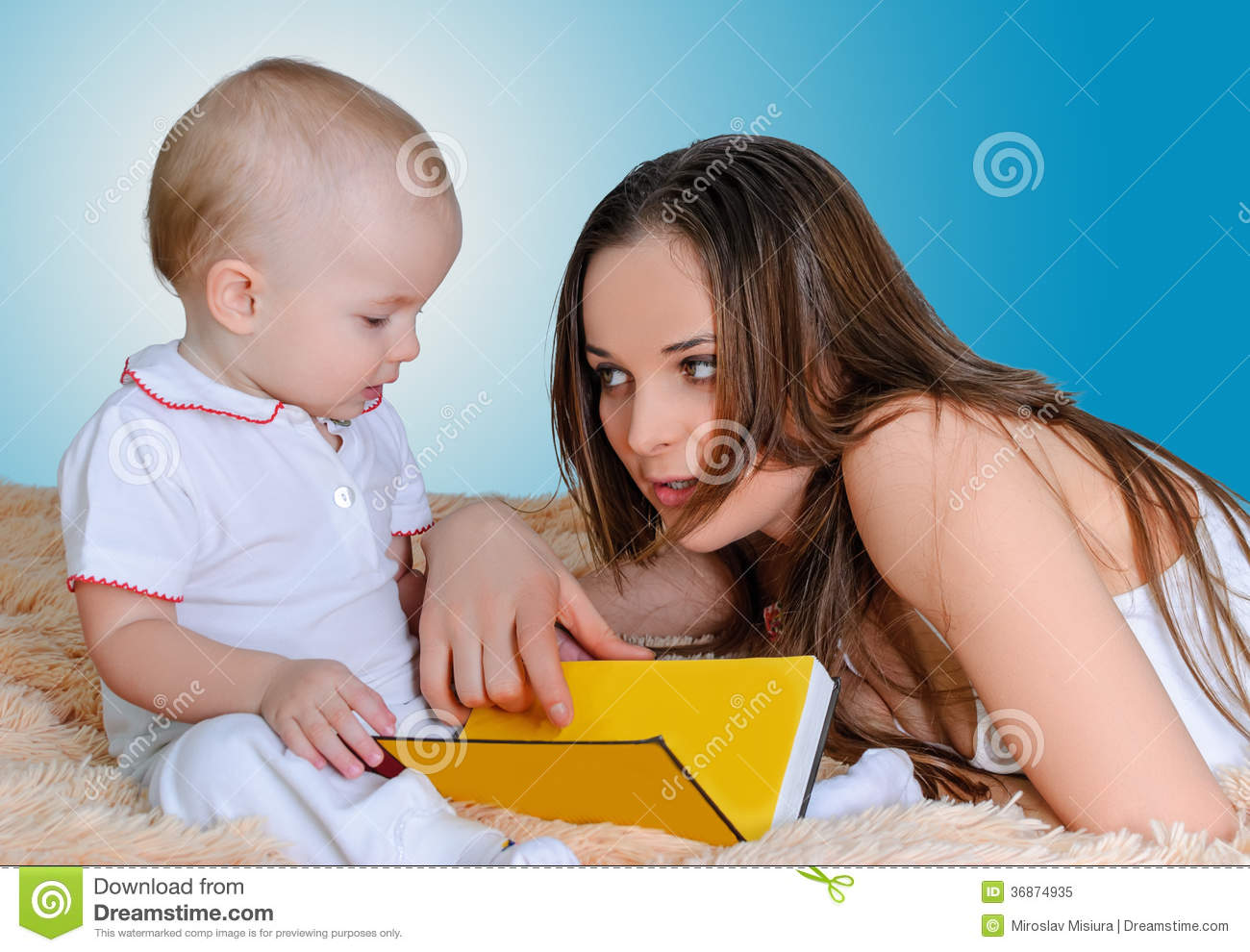 Mother reading bedtime stories stock image image of for Bed stories online