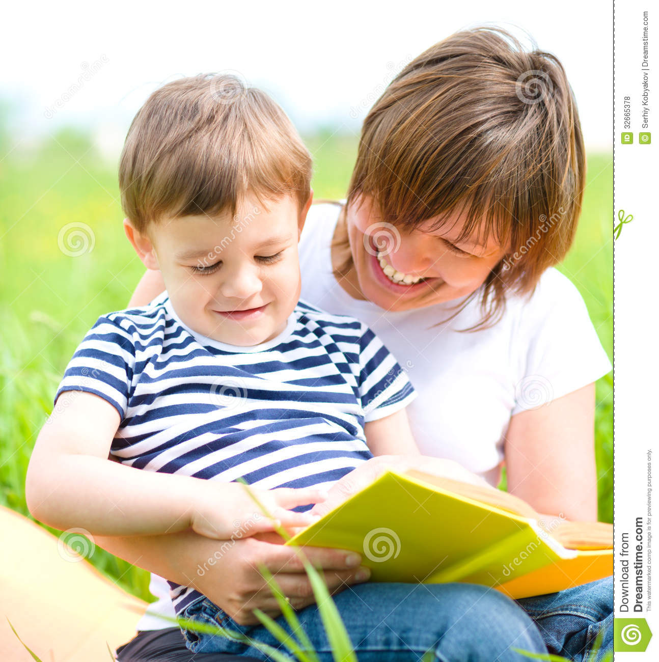 Mother Is Reading Book For Her Child Royalty Free Stock ...