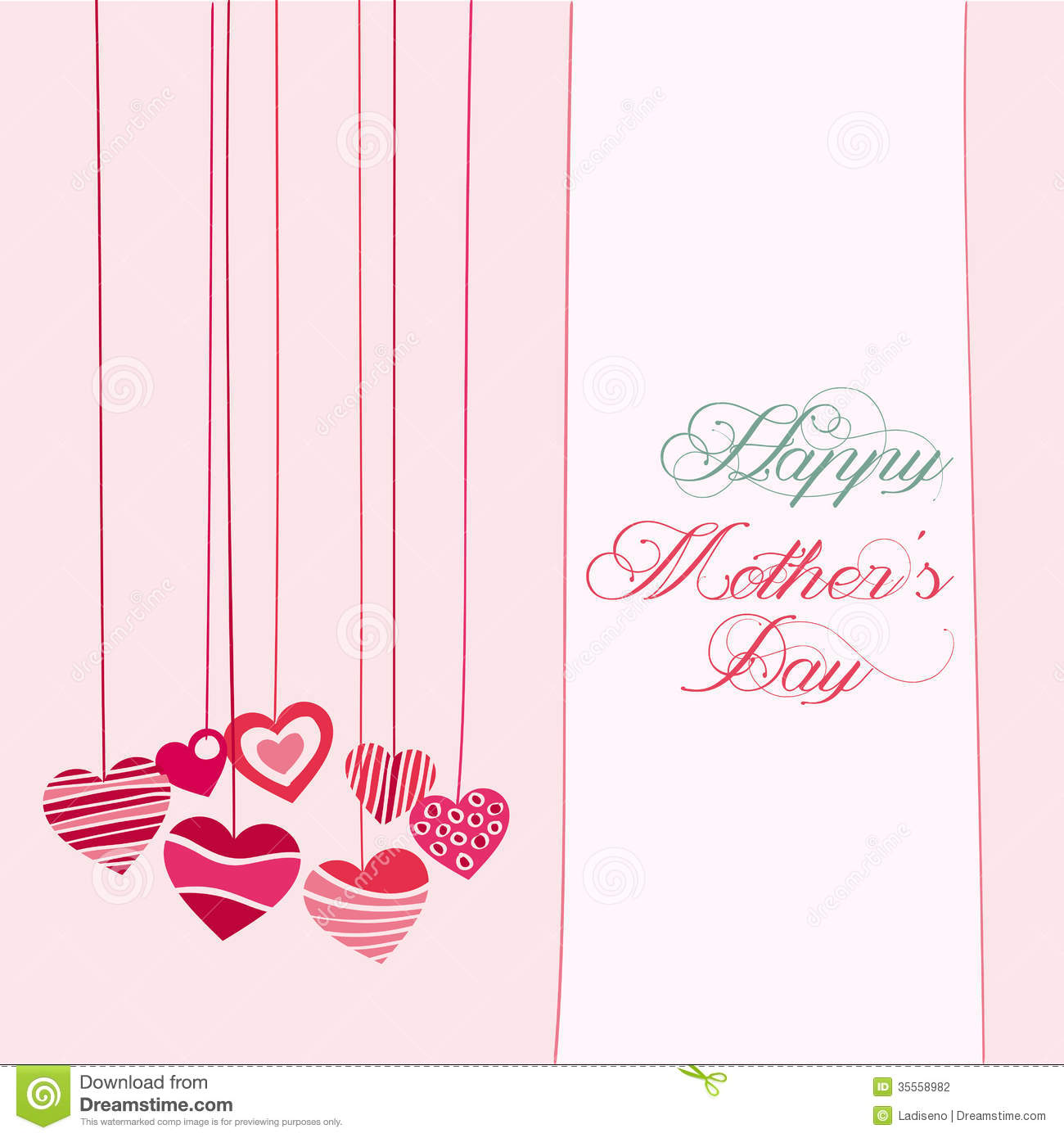 Abstract Happy Mothers Day Text On Special Background