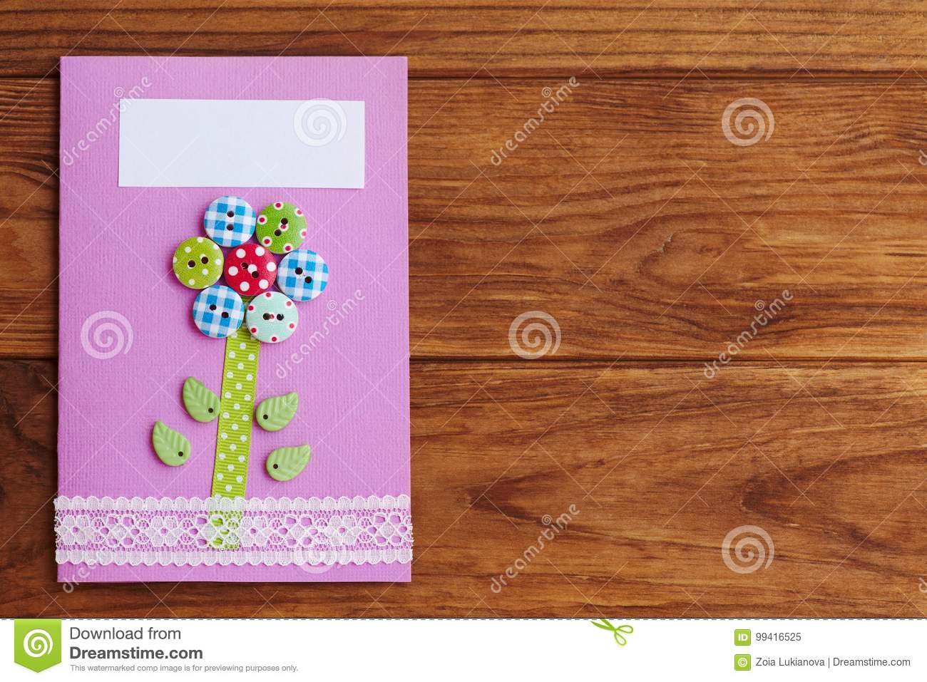 Swell Mother S Day Or Birthday Greeting Card With Flower On A Wooden Funny Birthday Cards Online Alyptdamsfinfo