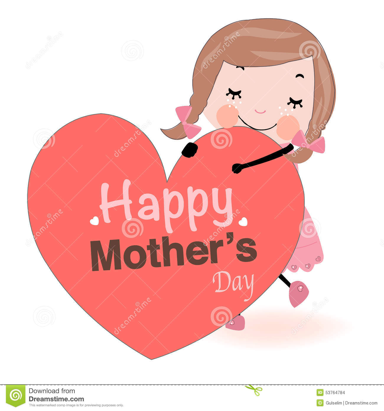 hands holding a heart mothers day card s day card holding vector stock 8101