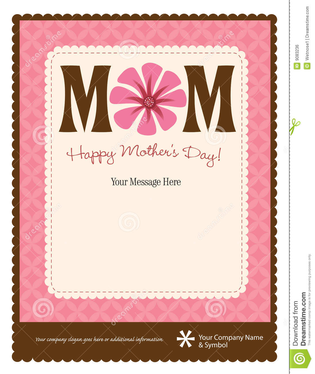 Mother's Day Flyer/Poster Template Stock Vector