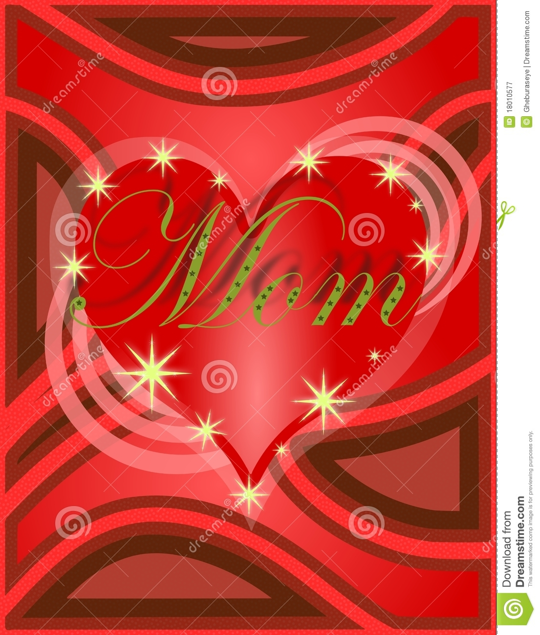 Mothers day greeting card with heart in red stock illustration mothers day greeting card with heart in red kristyandbryce Gallery