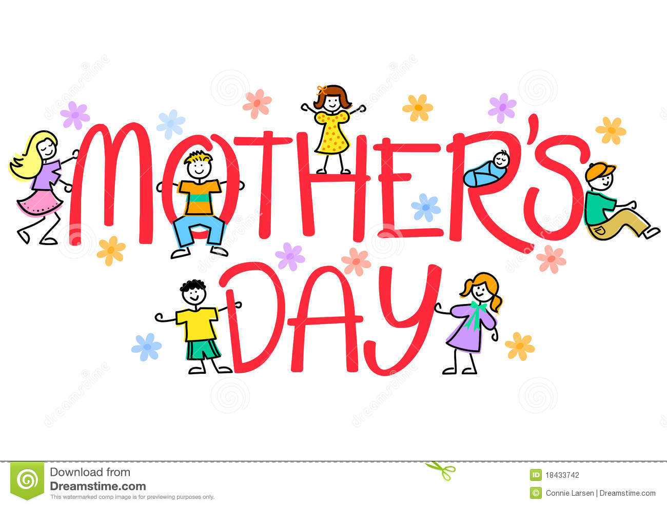 Mother's Day Kids/eps Stock Photography - Image: 18433742