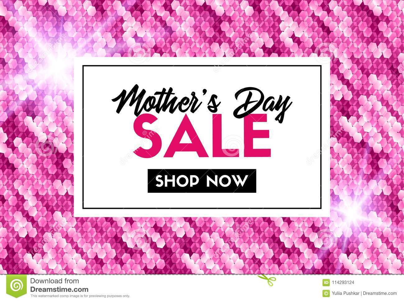 Mothers Day Sale Promotion Vector Template Stock Vector