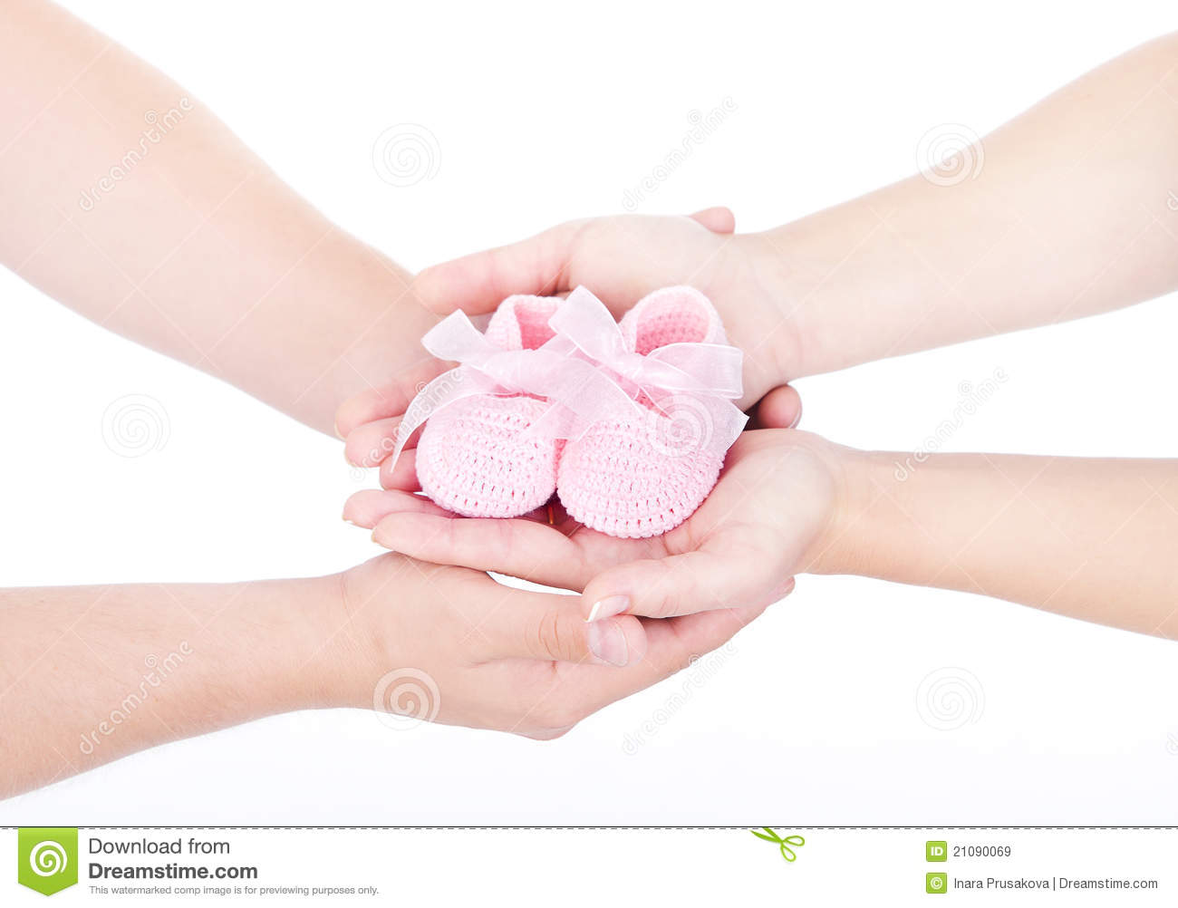 Family Baby Hands Newborn Kid Hand Mother Father Parents Hands Stock