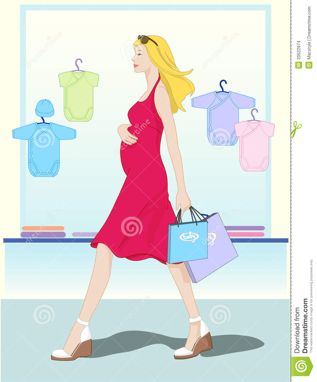 shopping baby clothes