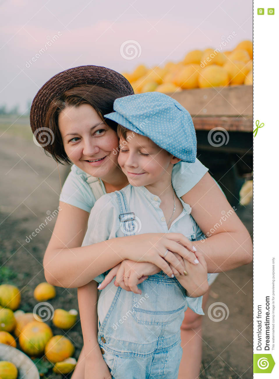 Mom and son riding melons | XXX photos)