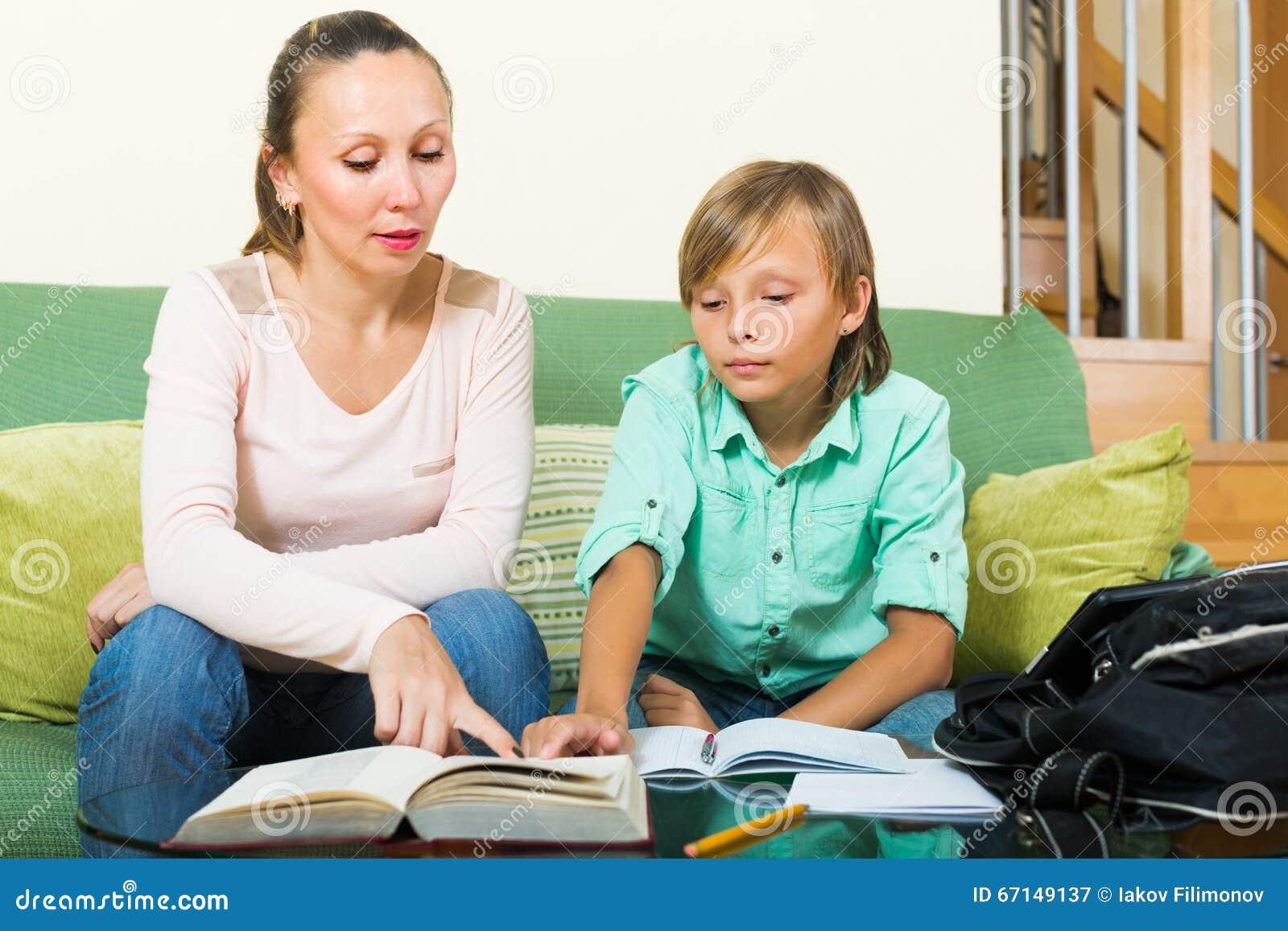 son lies about doing homework