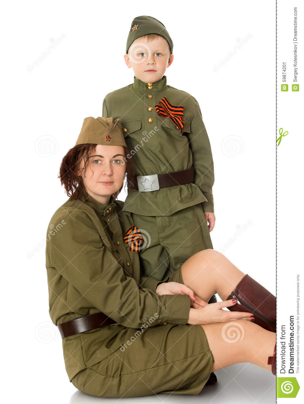 mother  and  son Russian