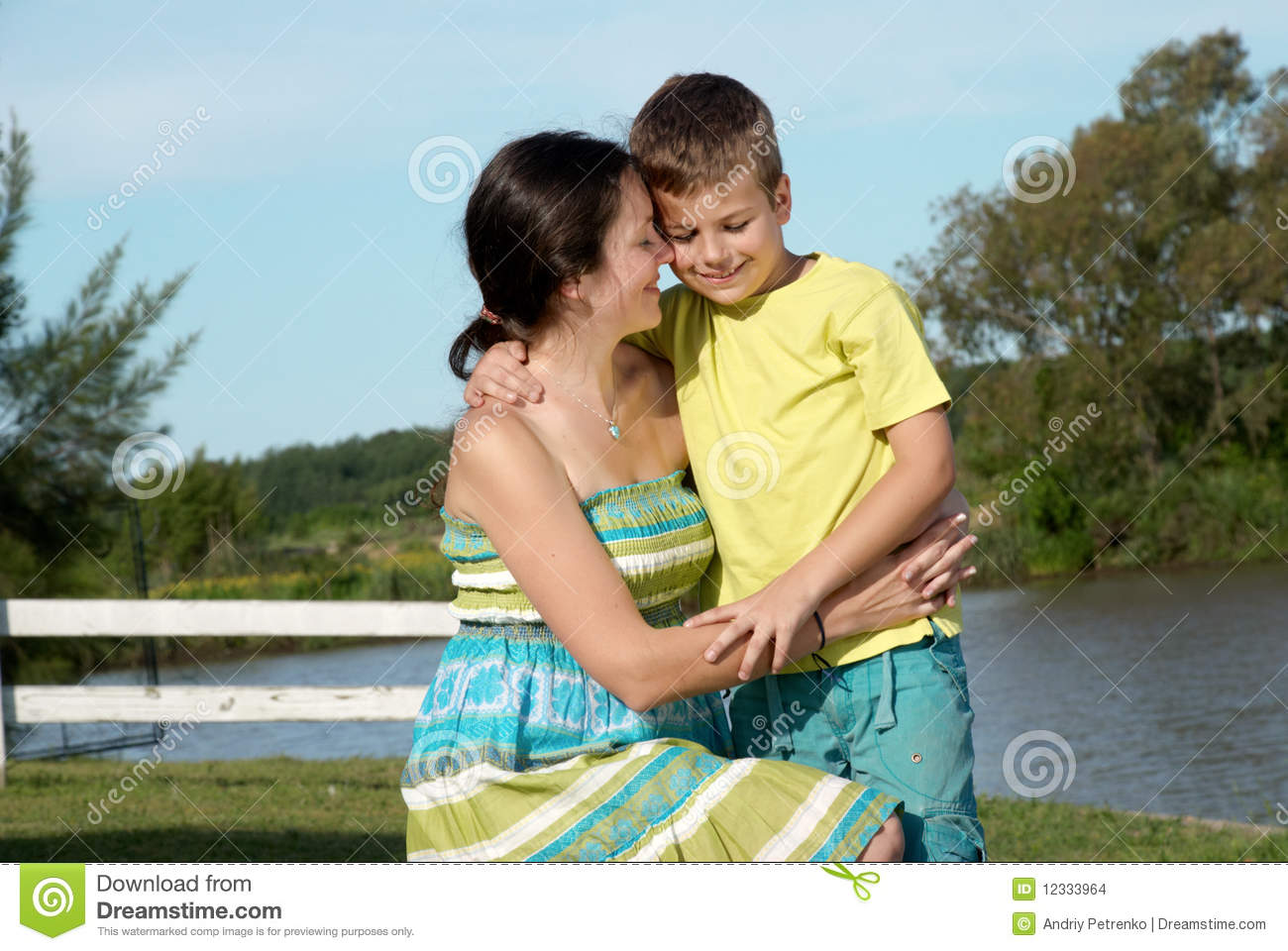 Mother And Son In Nature Stock Images - Image: 12333964