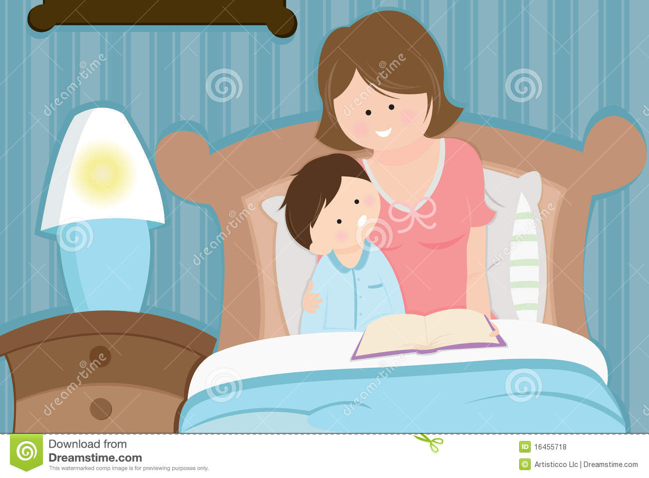 Bedtime royalty free stock photos bedtime royalty free for Bed stories online