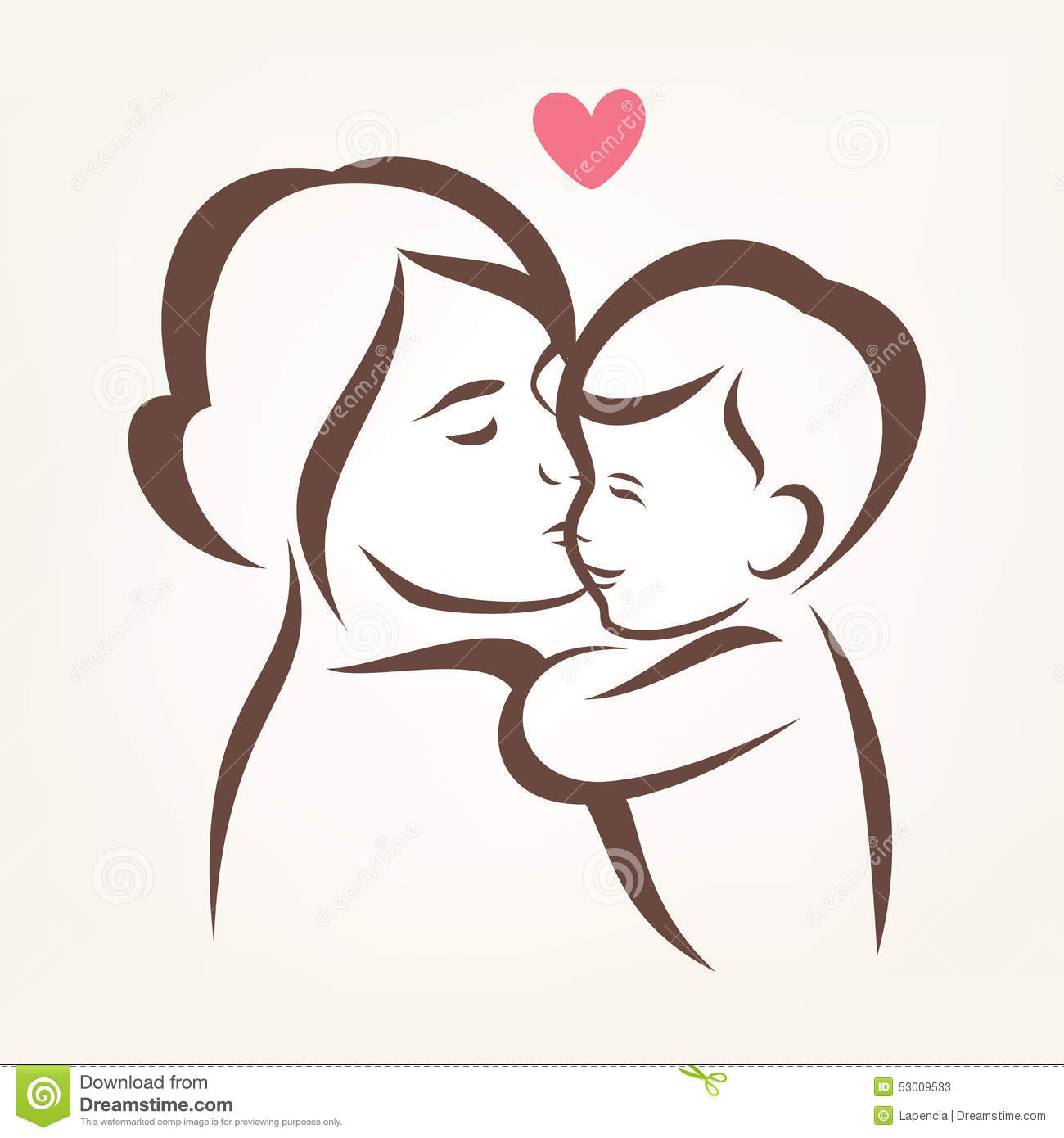 mother and son stylized vector silhouette stock vector free baby clipart for boys free baby clipart images