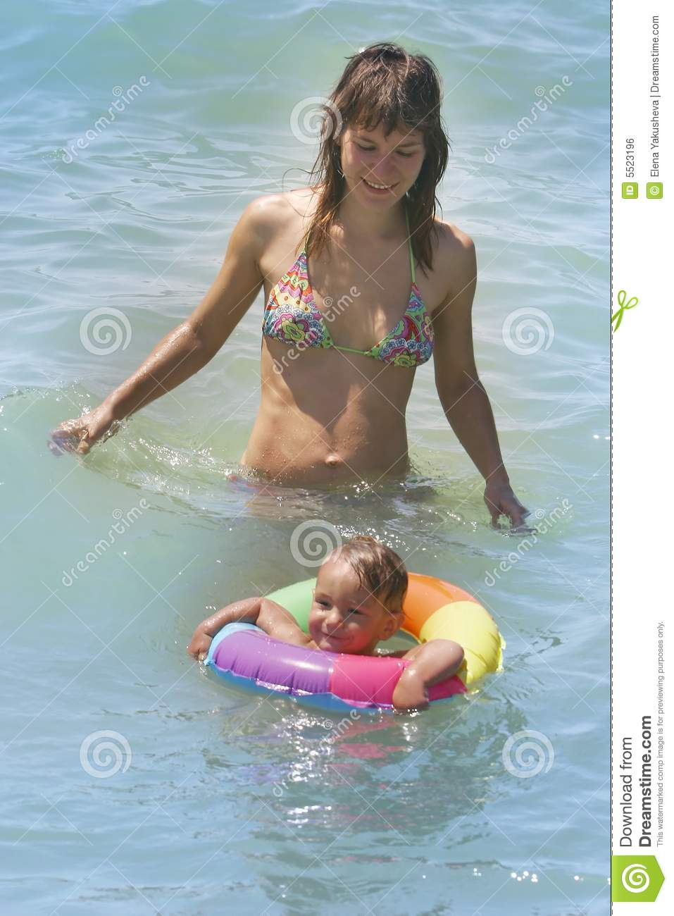 Mother And Son Swimming Royalty Free Stock Image Image