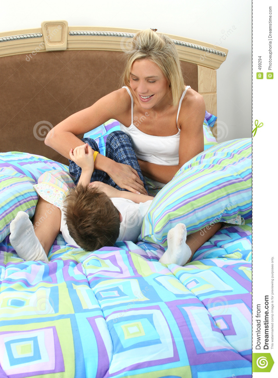 Mother Son Tickle Fight Stock Images - Image: 499294 View Image