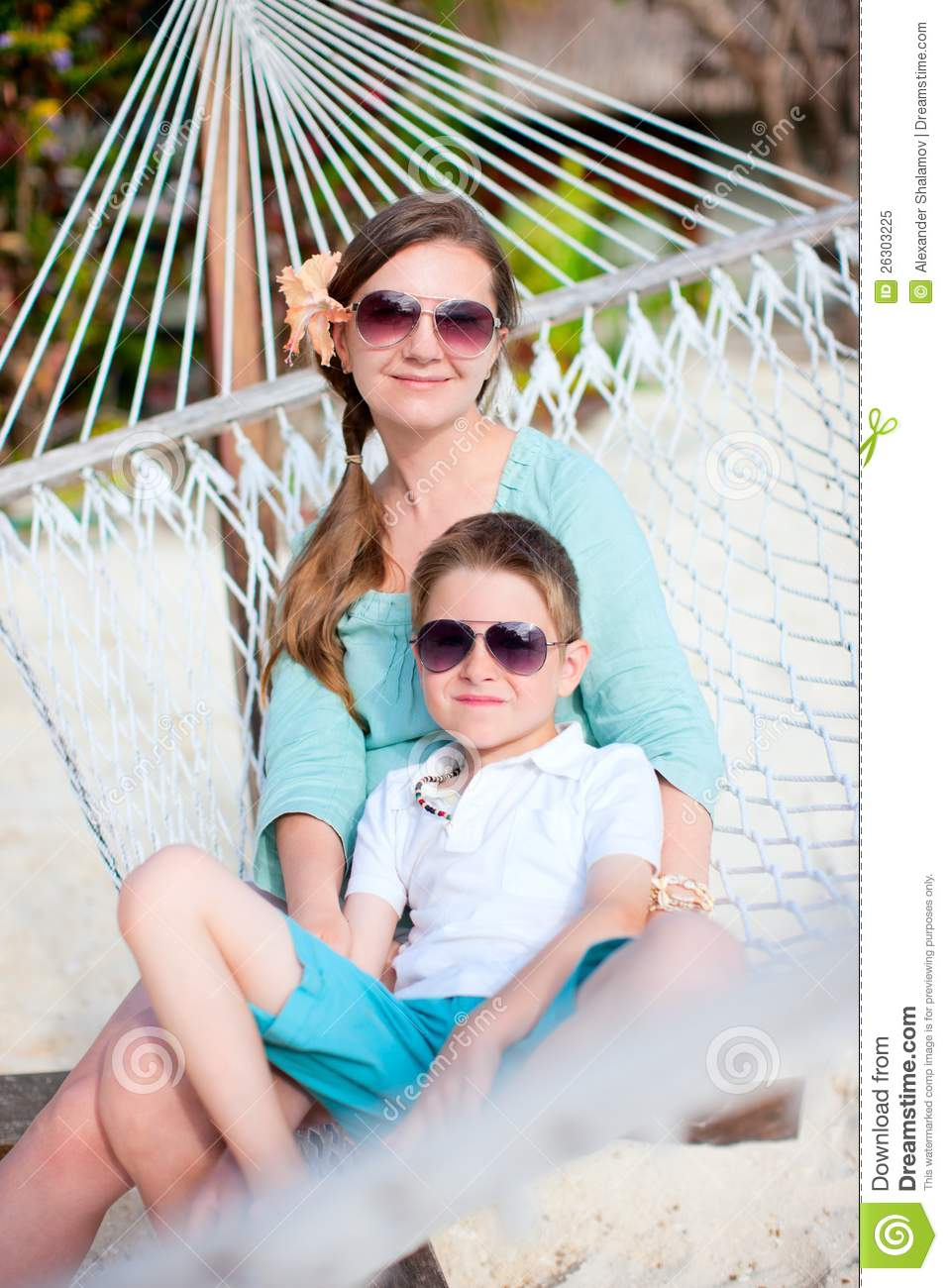 Mother And Son On Vacation Royalty Free Stock Photo