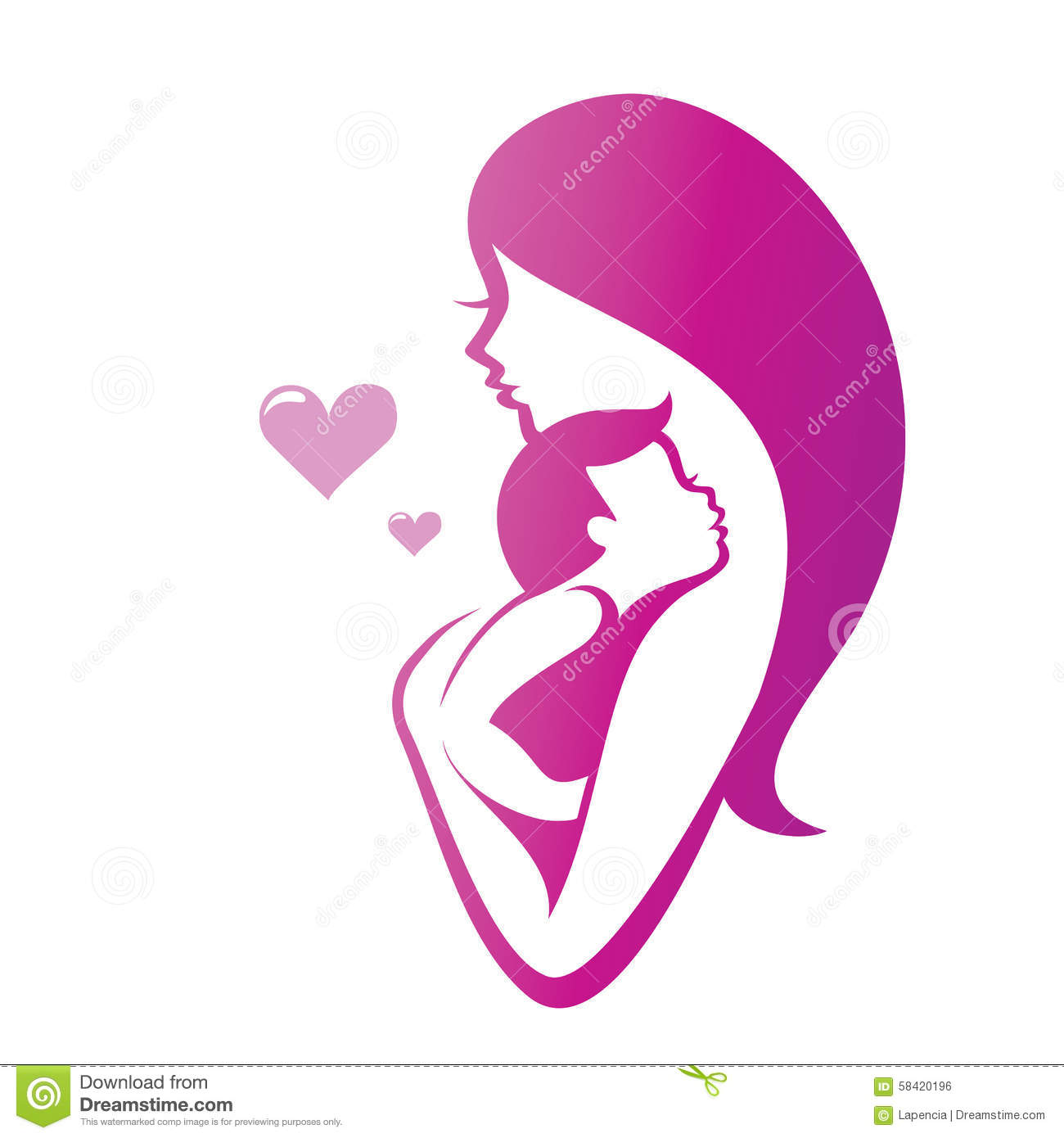 Mother And Son Stock Vector Image 58420196
