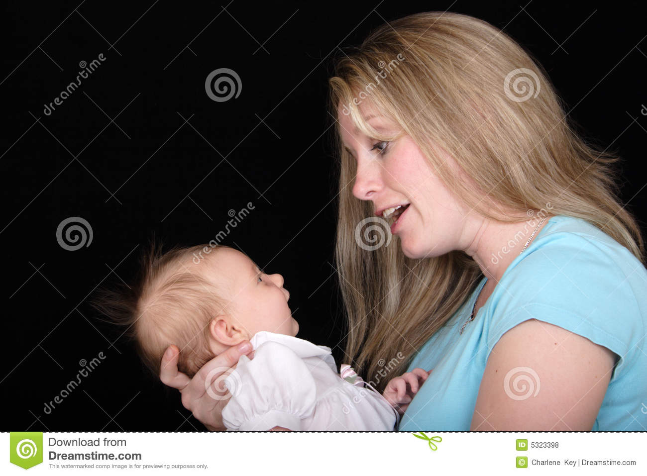 Mother Talking to Daughter