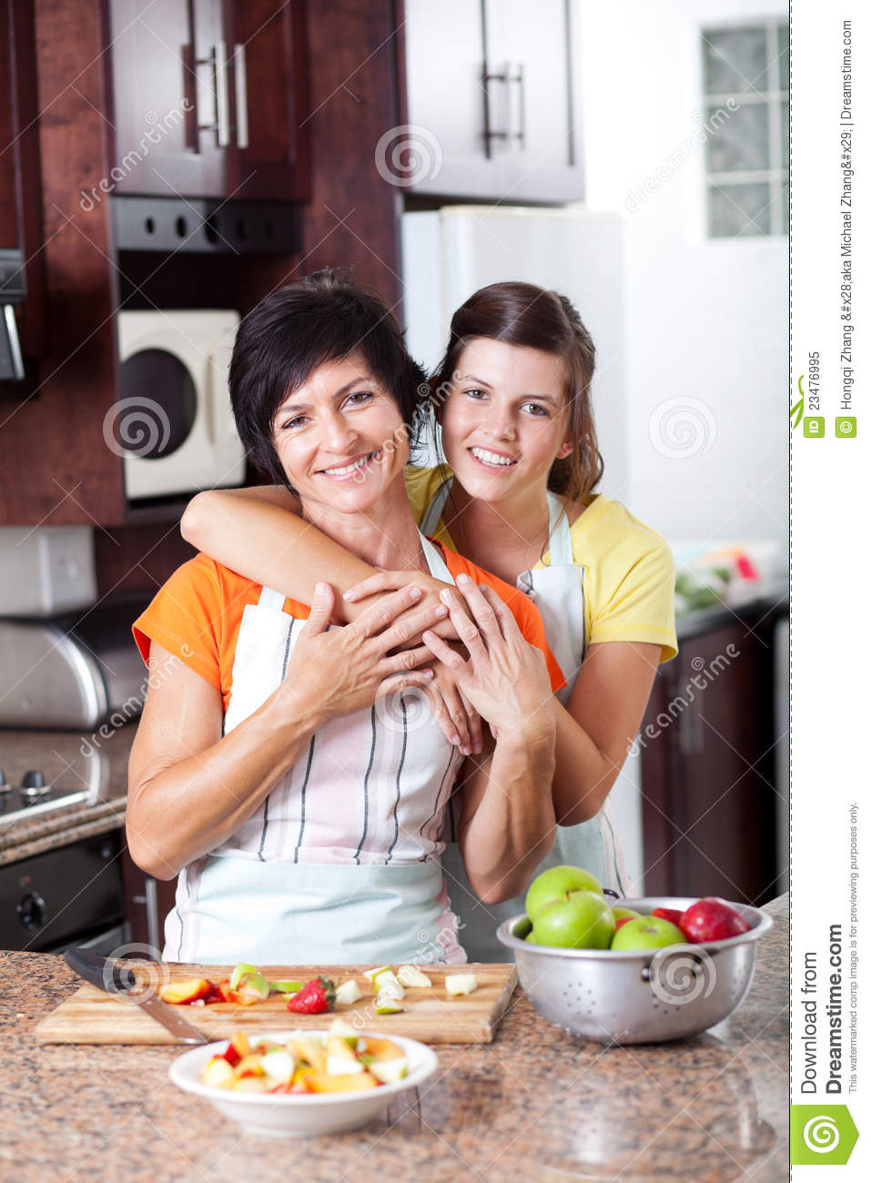 Mother And Teen Daughter Royalty Free Stock Photo - Image