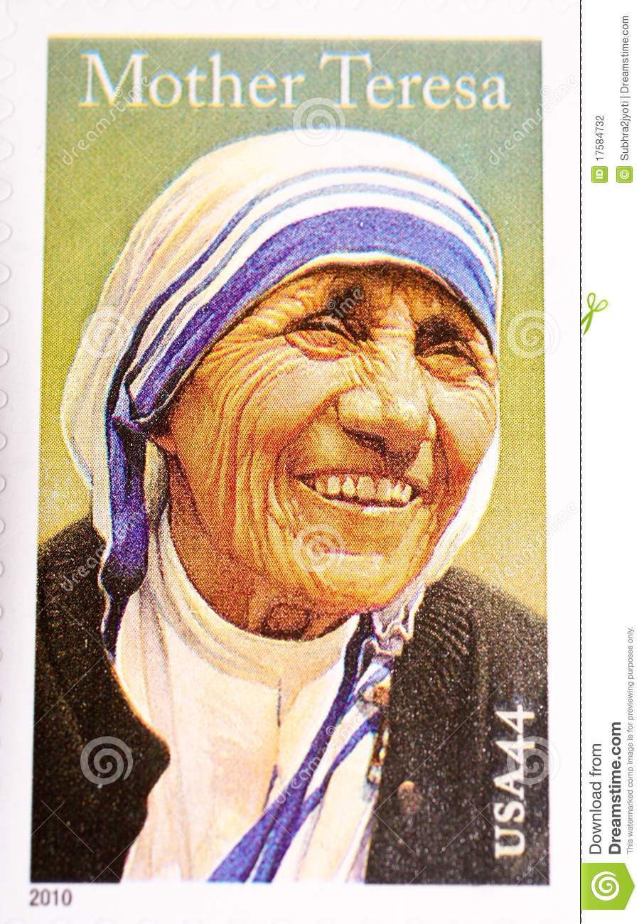 Mother Teresa, commemorated in US Postage Stamp