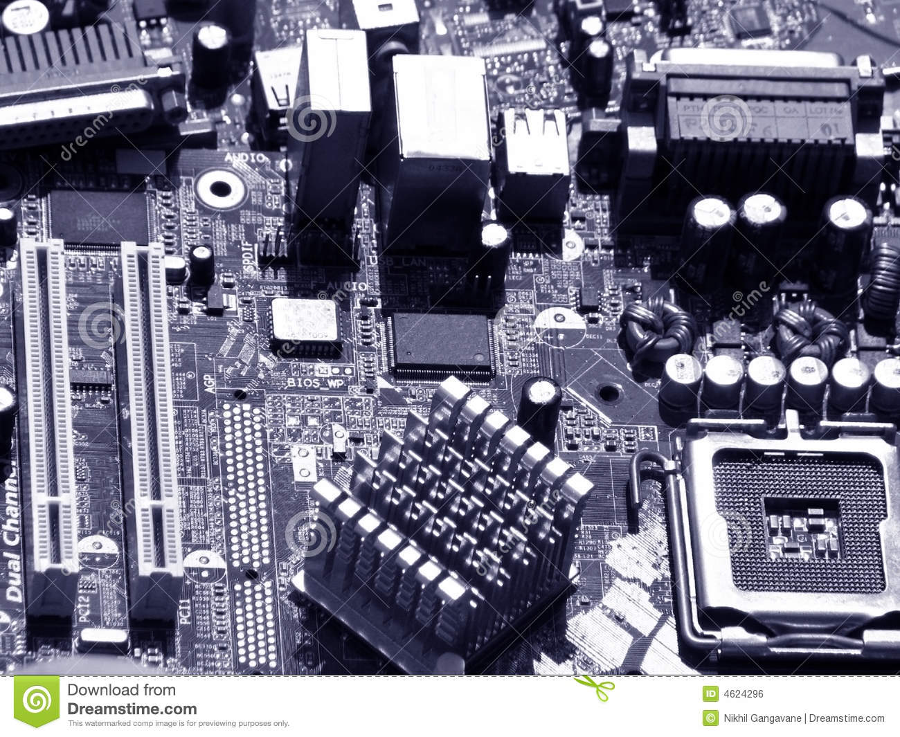 Motherboard Components Royalty Free Stock Image