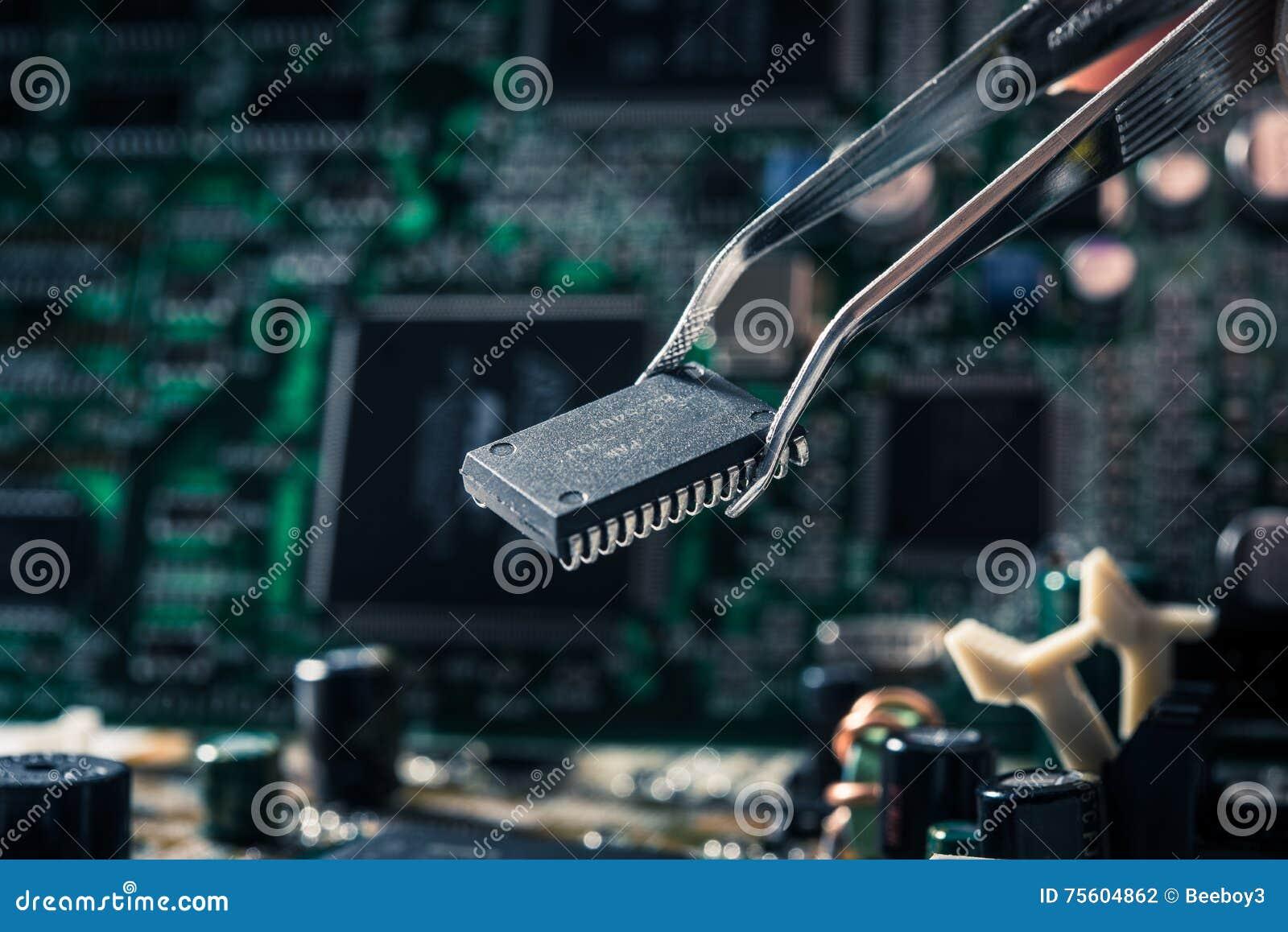 Motherboard van de computer