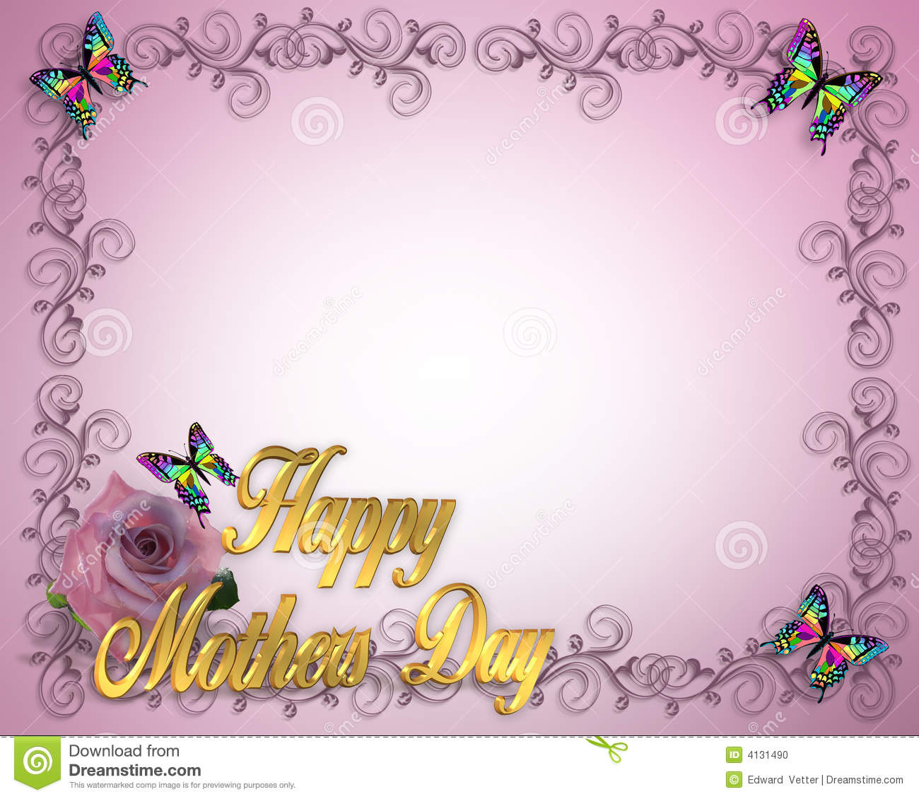 Mothers Day Border design stock illustration. Illustration of moms ...
