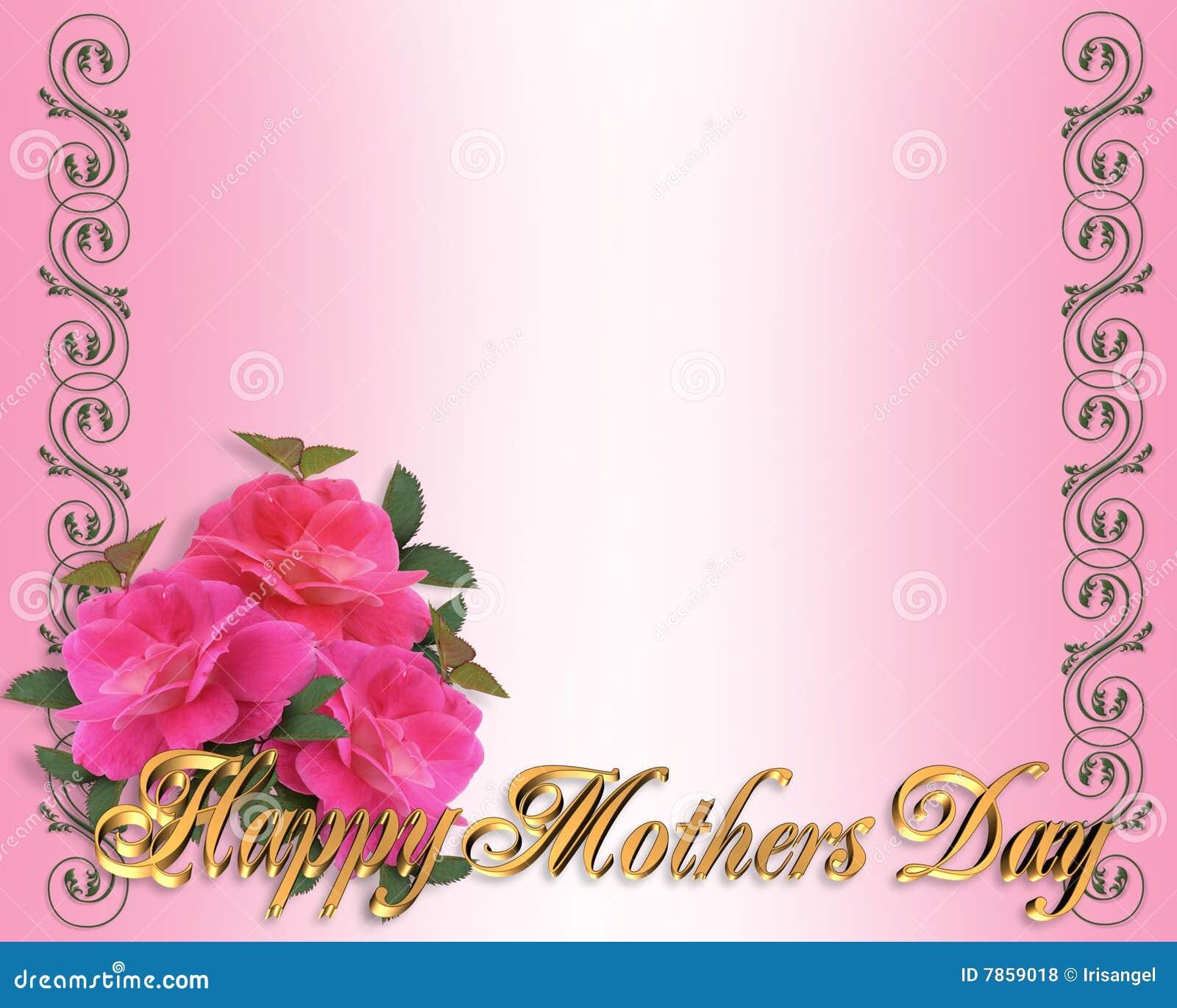 mothers day border pink roses stock illustration illustration of detail decorated 7859018. Black Bedroom Furniture Sets. Home Design Ideas