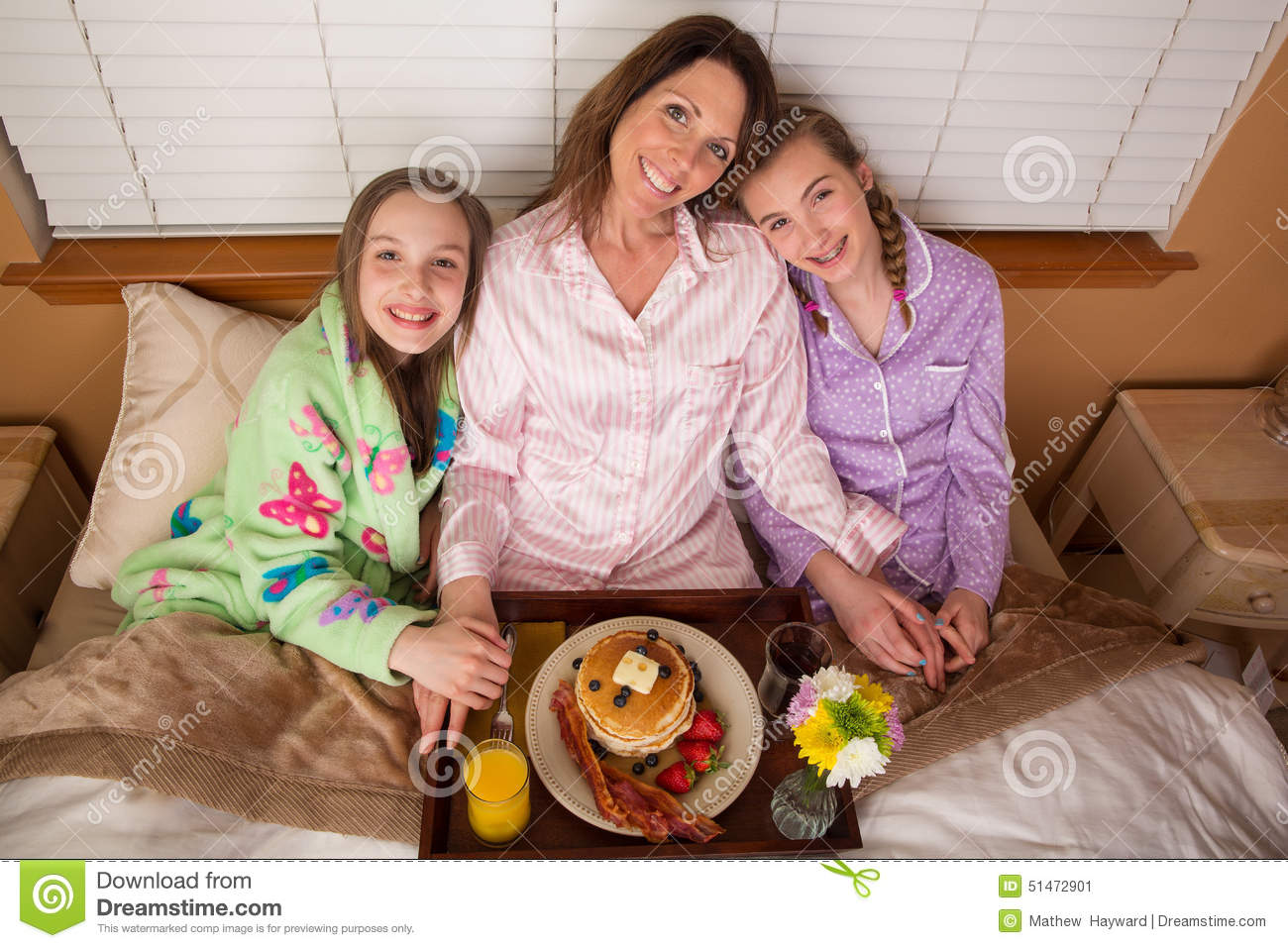 Mothers Day Breakfast In Bed Stock Image Image Of Blueberries Mother 51472901