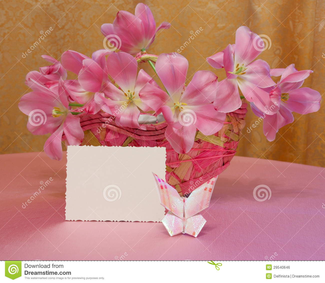Mothers Day Card or Easter Image - Stock Photo