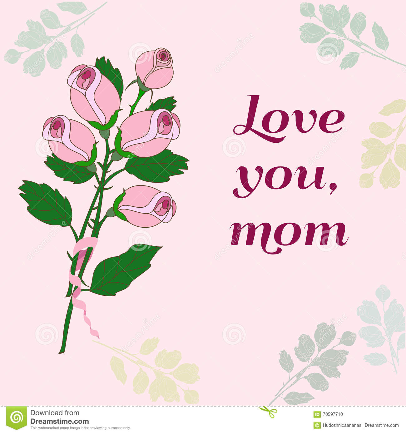 Mothers day card stock vector image of elegant holiday for Classy mothers day cards