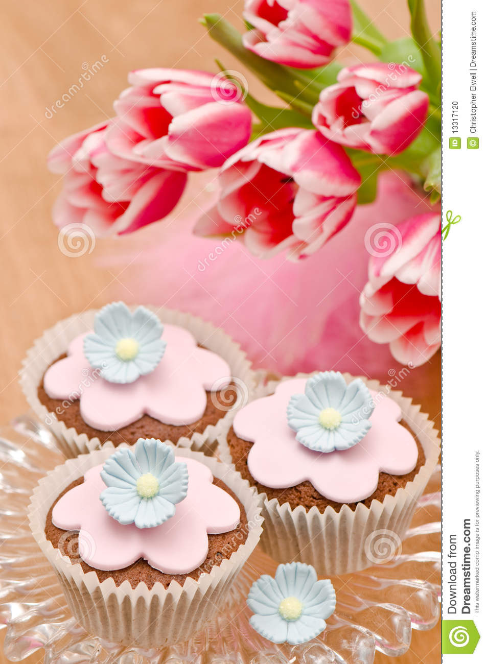 Mothers Day Cupcakes Stock Photo Image 13317120