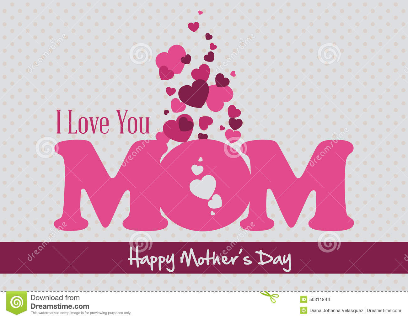 Mothers Day Stock Illustration - Image: 50311844