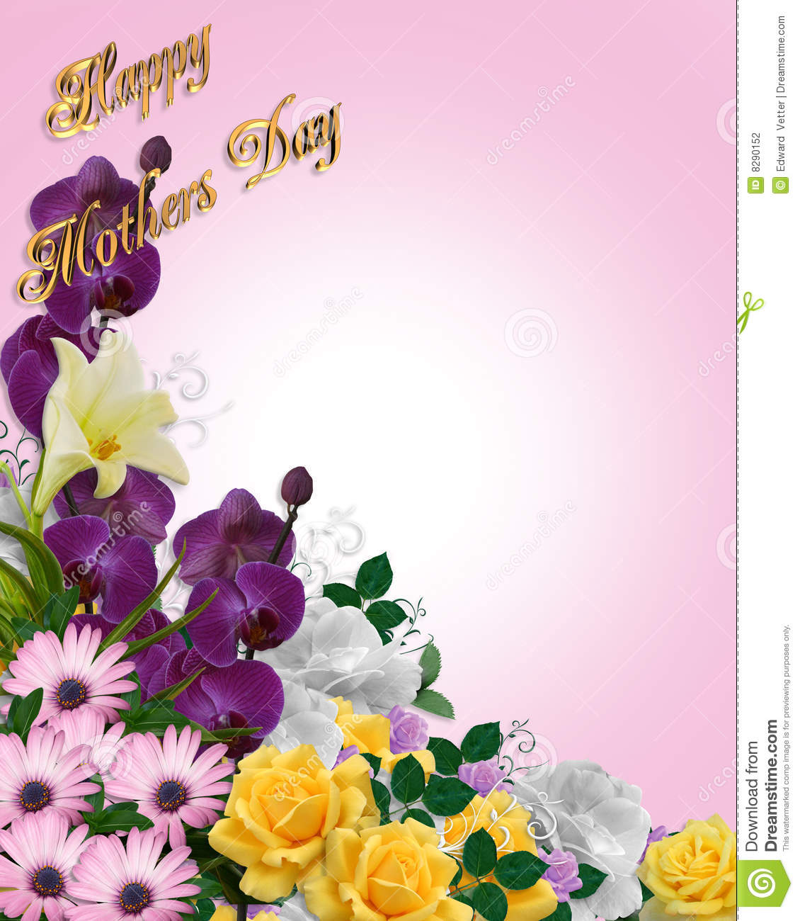 Mothers Day Floral Border Card