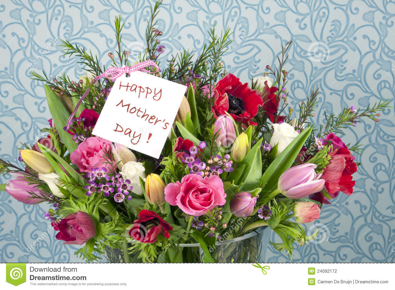 Mothers Day Flowers Stock graphy Image