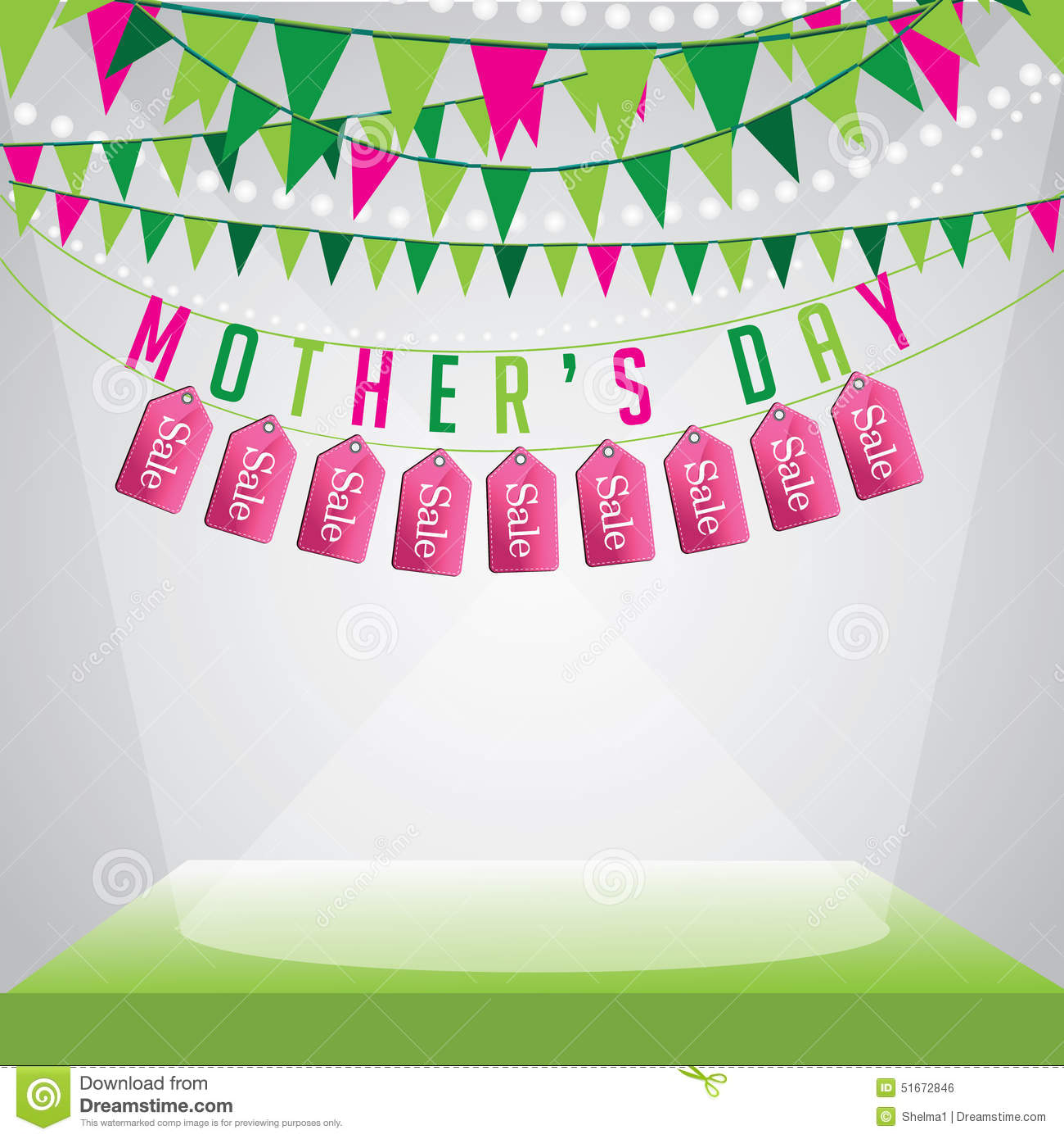 Mothers Day Storewide Sale Template: Mothers Day Sale Background EPS 10 Vector Stock Vector