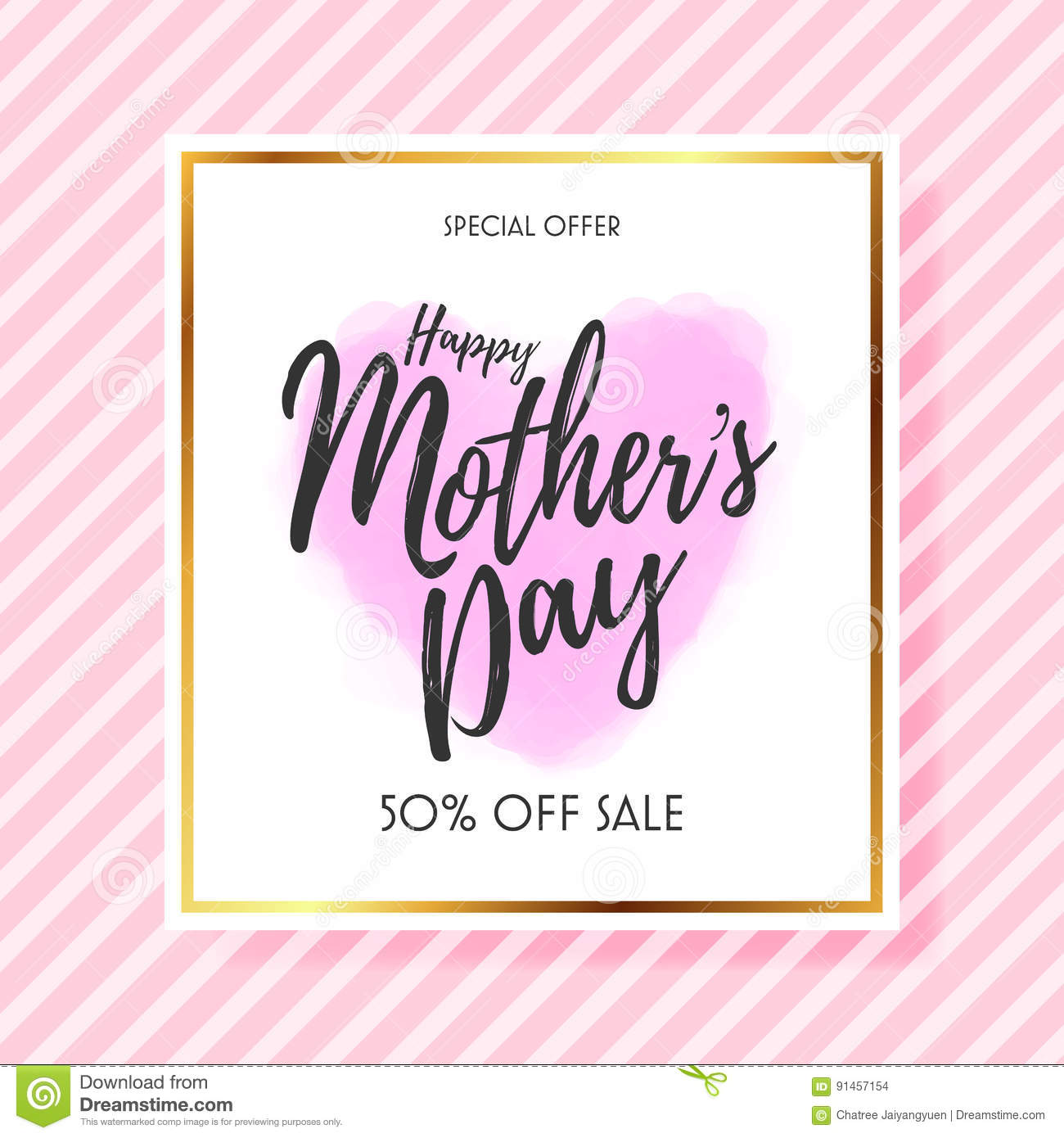Mothers Day Storewide Sale Template: Mothers Day Sale Background Layout For Banners Stock