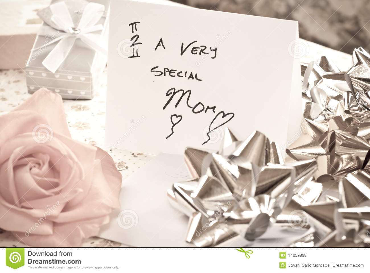 Mothers Day Surprise stock photo  Image of adore, mothers - 14059898