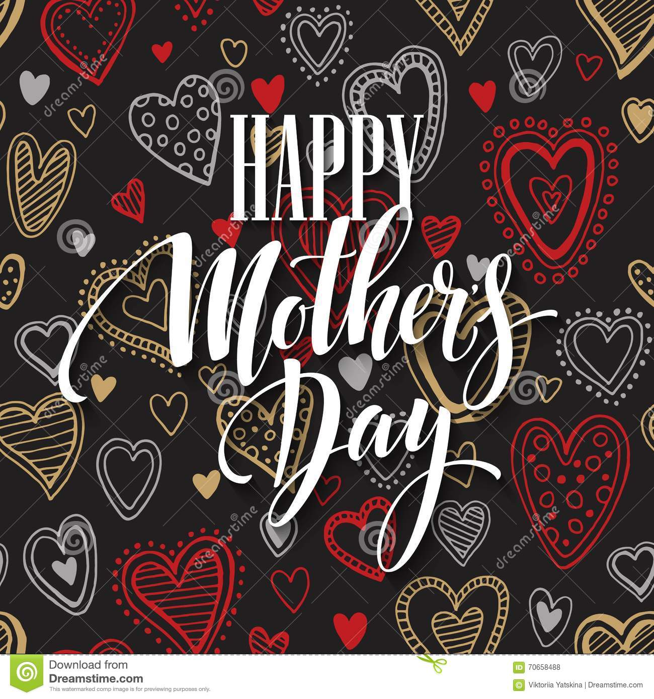 Mothers Day Vector Greeting Card Stock Vector Image