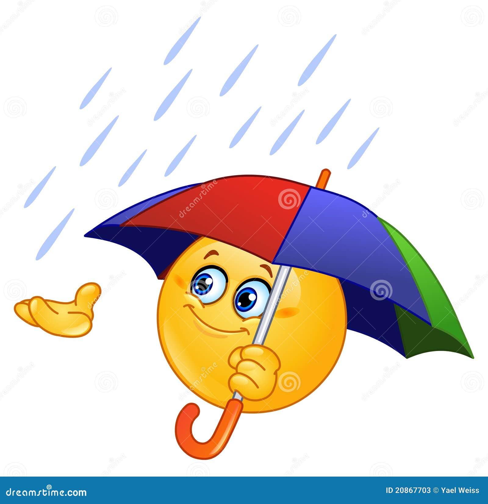 Motic ne avec le parapluie photos stock image 20867703 - Dessin avec emoticone ...