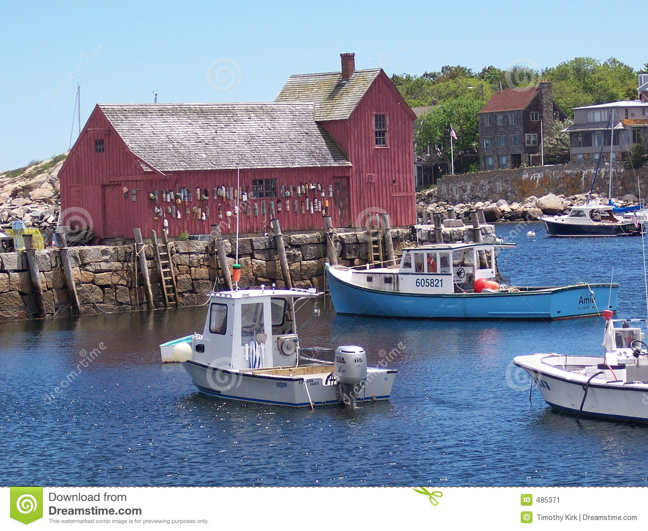 Motif #1, Rockport, MA stock image. Image of pilings, roof - 485371